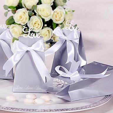 abordables Support de Cadeaux pour Invités-Rond / Carré Papier durci Titulaire de Faveur avec Imprimé Boîtes à cadeaux / Sacoches à cadeaux / Boîtes Cadeaux