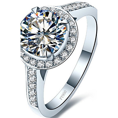 Feminino Maxi anel Luxo Vintage Fashion Prata de Lei Pedaço de Platina Jóias Casamento