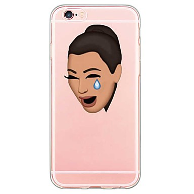 Para iPhone X iPhone 8 iPhone 6 iPhone 6 Plus Case Tampa Ultra-Fina Transparente Estampada Capa Traseira Capinha Desenho Animado Macia PUT