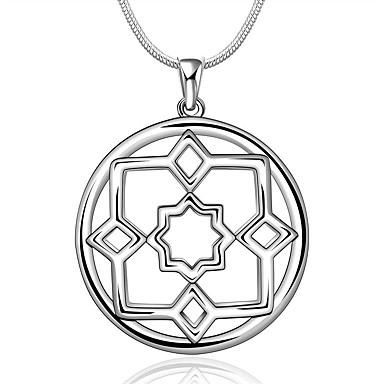 Damen Diamant Sterling Silber Zirkon Kubikzirkonia Silber Halsketten Anhängerketten Statement Ketten - Niedlich Party Büro Freizeit