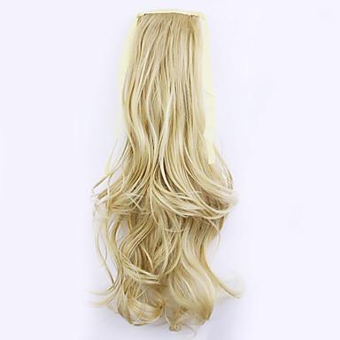 comprimento de ouro 50 centímetros venda direta da fábrica ligamento tipo de cabelo rabo de cavalo rabo de cavalo de onda (cor 25/613)