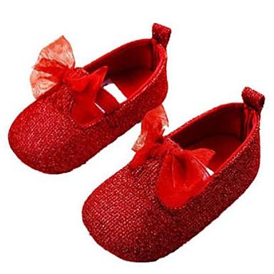 Mädchen-Flache Schuhe-Outddor-GlanzKomfort / Rundeschuh-Rot