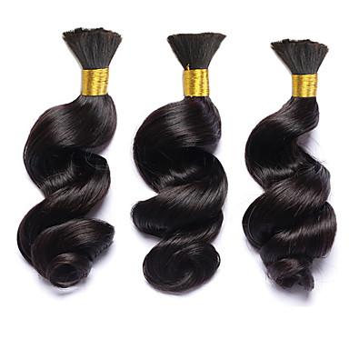 Tissages de cheveux humains Cheveux Brésiliens Ondulation Lâche 6 Mois 3 Pièces tissages de cheveux