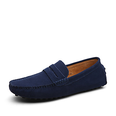 cheap Shoes Trends-Men's Formal Shoes Suede Casual Loafers & Slip-Ons Khaki / Royal Blue / Burgundy / Comfort Loafers