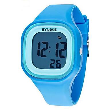 SYNOKE Reloj de Pulsera Despertador / Calendario / Cronógrafo Plastic Banda Elegante Negro / Blanco / Azul / Resistente al Agua / Luminoso / LCD