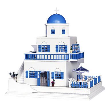 chi gøy huset DIY håndlaget hytta huset montert modellen bygger lite leketøy kreative gaver