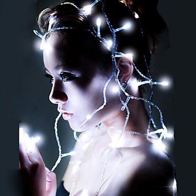 10m Leuchtgirlanden 80 LEDs LED Diode Warmes Weiß / RGB / Weiß Wasserfest / Wiederaufladbar 100-240 V / IP44