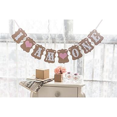 jubileum / Bursdag / Baby Fest Hardt Kortpapir Bryllupsdekorasjoner Hage Tema / Blomster Tema / Eventyr Tema Vinter Vår Sommer Høst