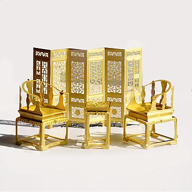 Quebra-Cabeças 3D Quebra-Cabeça Quebra-Cabeças de Metal Brinquedos Mobília 3D Retro Artigos de mobiliário Metal Peças