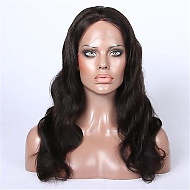 Cheveux humains Dentelle frontale Perruque Ondulation naturelle 130% Densité 100 % Tissée Main Perruque afro-américaine Ligne de Cheveux
