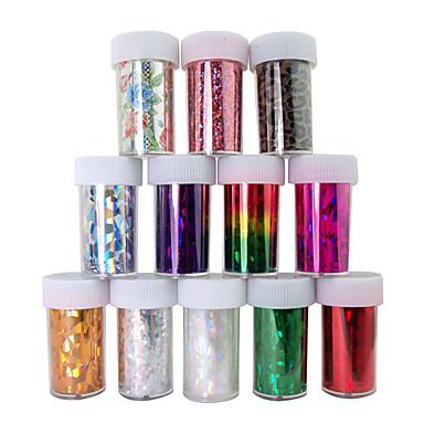 12 pcs Nail Smycken Geometrisk / Tecknat Klistermärken / Nail Art Design