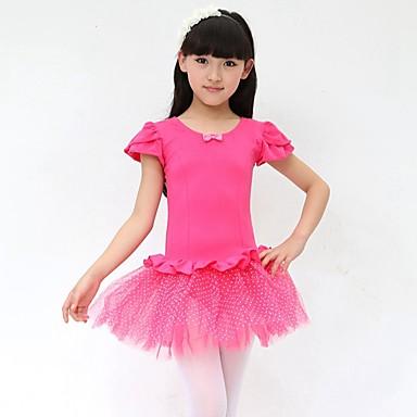 Balé Vestidos Crianças Actuação Algodão Arco(s) 1 Peça Sem Mangas Natural Vestido