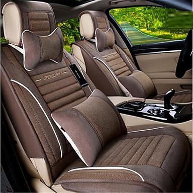 voordelige Auto-interieur accessoires-Auto-stoelhoezen Stoel hoezen Bruin / Lichtblauw / Crème- Vezel Zakelijk for Universeel