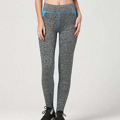 בגדי ריקוד נשים מכנסי ריצה נושם רך דחיסה חלק חותלות תחתיות ל כושר גופני ריצה כחול S M L XL