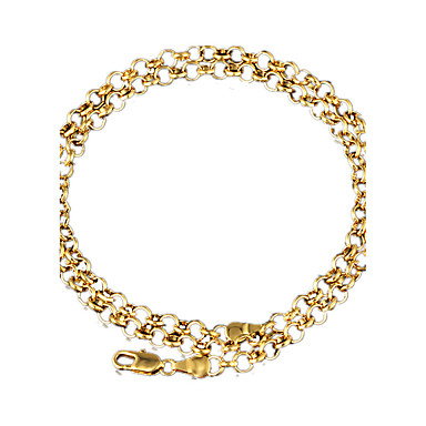 Modische Halsketten Ketten Schmuck Hochzeit / Party / Alltag / Normal / Sport Aleación / vergoldet Goldfarben 1 Stück Geschenk