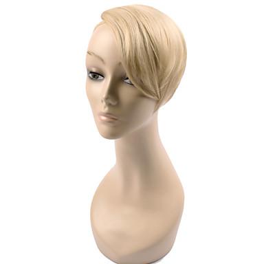 voordelige Haar Stukken-Goud Zwart Bruin Blonde Rode wijn Recht Pony Rand 0.03kg Synthetisch haar Haar stuk Haarextensies Recht