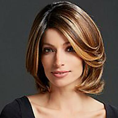 Synthetische Haare Perücken Wellen Gefärbte Haarspitzen (Ombré Hair) Kappenlos Medium Blond