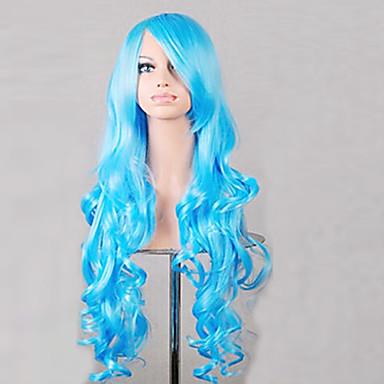 Kobieta Peruki syntetyczne Długo Niebieski Costume Wig Costume Peruki