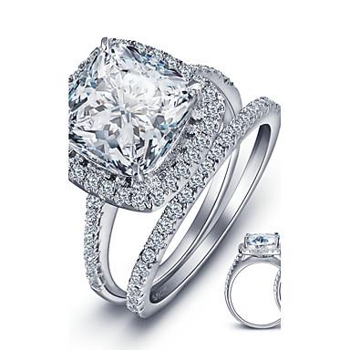 Ringer Kubisk Zirkonium Circle Shape Mote / Vintage Bryllup / Party / Daglig / Avslappet Smykker Dame Midiringe 1set,6 / 7 / 8 Sølv
