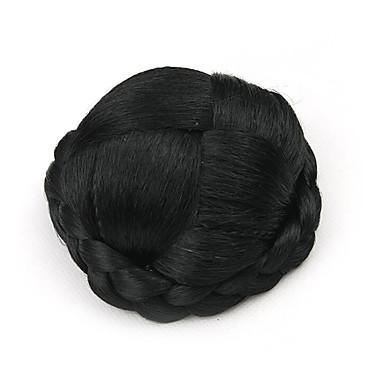 verworrene lockige schwarze europa kleine menschliches Haar capless Perücken Chignons 4010