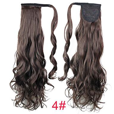Con Clip Coletas Pelo sintético Pedazo de cabello La extensión del pelo Rizado