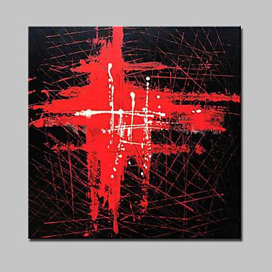 Pintados à mão Abstrato Quadrada, Modern Tela de pintura Pintura a Óleo Decoração para casa 1 Painel