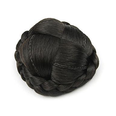excêntricas encaracolados pretos europa cabelo humano pequena capless chignons perucas 4005