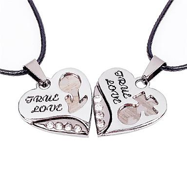 Modische Halsketten Anhängerketten Schmuck Hochzeit / Party / Alltag / Normal / Sport Leder / Titanstahl Silber 1 Paar Geschenk