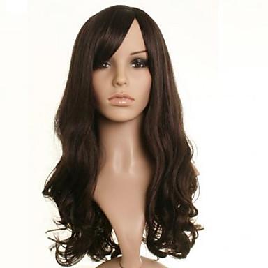 Synthetische Perücken Wellen Braun Damen Kappenlos Karnevalsperücke Halloween Perücke Medium Synthetische Haare