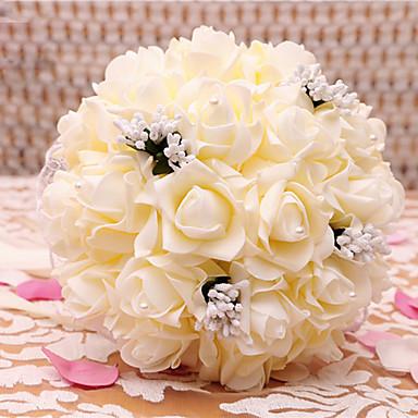 Hochzeitsblumen Rundförmig Rosen Sträuße Hochzeit Satin Trockenblume ca.23cm