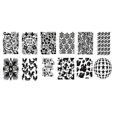 1pc uñas de impresión de protección del medio ambiente manicura plantilla de pintura polaco lechoso placa de plástico blanco