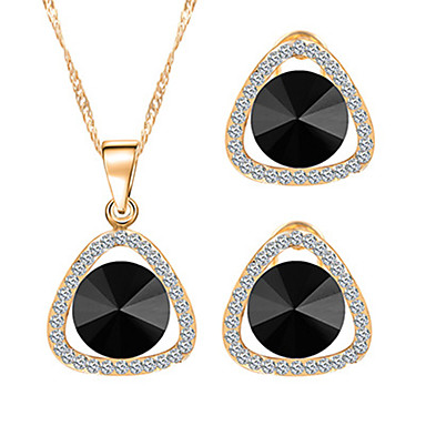 Set de Bijoux Collier / Boucles d'oreilles Mode Cristal Strass Alliage Colliers décoratifs Boucles d'oreille PourMariage Soirée Quotidien
