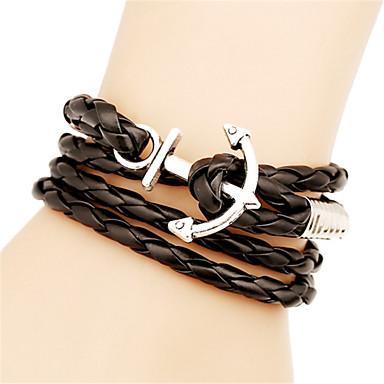 צמידים צמידי עור סגסוגת / עור חתונה / Party / יומי / קזו'אל / ספורט תכשיטים מתנות שחור / לבן,1pc