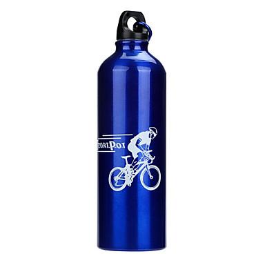 billige Sykkeltilbehør-Sykkel Vannflasker Bærbar Ikke Giftig BPA Miljøvennlig Til Sykling Vei Sykkel Fjellsykkel Aluminiumslegering Sølv Rød Blå 1 pcs