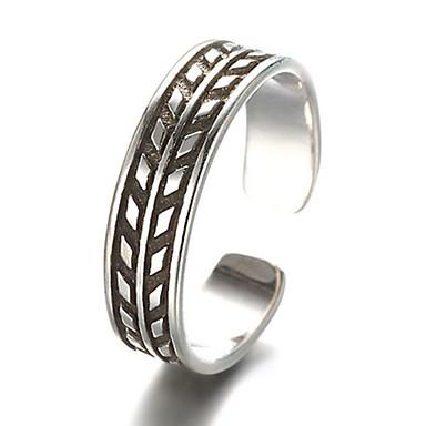 בגדי ריקוד גברים נשים טבעות רצועה אופנתי מתכווננת תכשיטים כסף סטרלינג תכשיטים עבור יומי קזו'אל