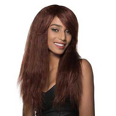 Human Hair Capless Parykker Ekte hår Rett Lokkløs Parykk