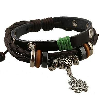 Herrn Damen Strang-Armbänder Lederarmbänder Leder Aleación Schmuck Für Hochzeit Party Alltag Normal Sport