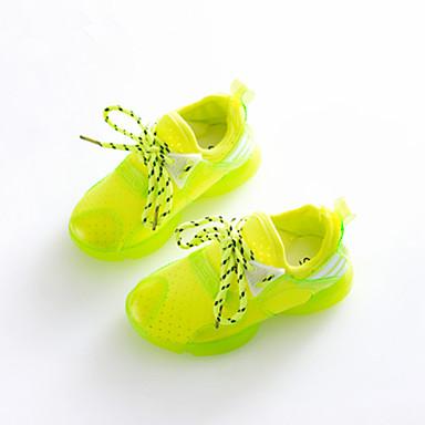 Jungen / Mädchen-Sneaker-Lässig / Sportlich-KunstlederKomfort-Grün / Rot / Weiß