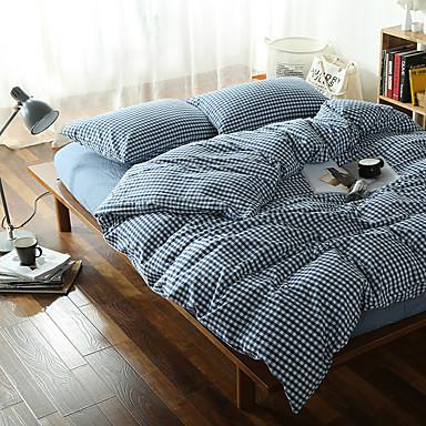 Bettbezug-Sets Verziert Baumwolle Garngefärbt 4 Stück