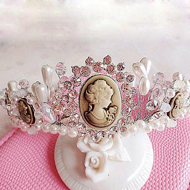 Damen Blumenmädchen Strass Künstliche Perle Kopfschmuck-Hochzeit Besondere Anlässe im Freien Tiara 1 Stück