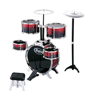 madeira tambor jazz vermelho para crianças acima de 3 brinquedo instrumentos musicais