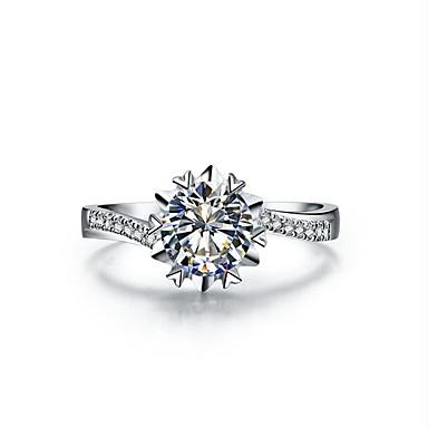 Damen Statementringe Luxus Sterling Silber Platiert Schneeflocke Schmuck Hochzeit