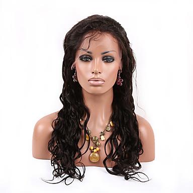 Menneskehår Blonde Front Paryk Krop Bølge 130% Massefylde 100 % håndbundet Afro-amerikansk paryk Natural Hairline Kort Medium Lang Dame
