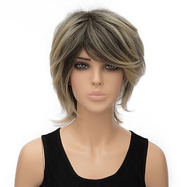 Damen Synthetische Perücken Kurz Gerade Blondine Kostümperücke
