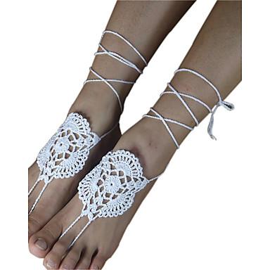 Damen Fusskettchen - damas, Simple Style, Modisch Schmuck Weiß Für Hochzeit Party Normal