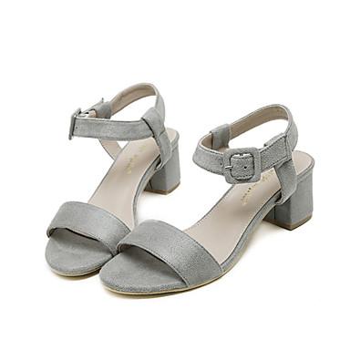 Magassarkú / Platform / Nyitott orrú-Vastag-Női cipő-Szandál-Ruha-Gyapjú-Fekete / Rózsaszín / Szürke