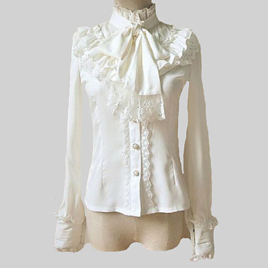 Классическая и традиционная Лолита 1950-е года / Лолита Шифон Жен. Блузы / сорочки Косплей Белый Лолита Длинный рукав Лолита