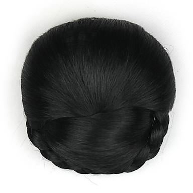 verworrene lockige schwarze europa Braut menschliches Haar capless Perücken Chignons dh103 2