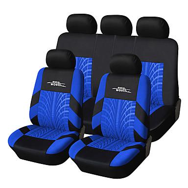 voordelige Auto-interieur accessoires-universele pasvorm voor auto, vrachtwagen, suv, of van polyester auto seat cover volledige set vol stoelbekleding set (9 stuks) blauw