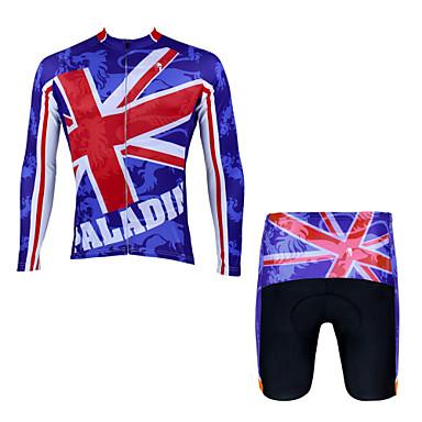 ILPALADINO חולצת ג'רסי ומכנס קצר לרכיבה בגדי ריקוד גברים יוניסקס שרוול קצר אופניים ג'רזי מכנסיים קצרים מדים בסטיםייבוש מהיר עמיד אולטרה